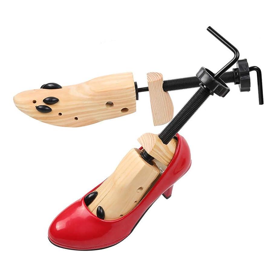 潮高める維持LVESHOP 優れた専門の2方向木の靴の木、男性か女性のための木の靴担架のペア (Size : Medium)