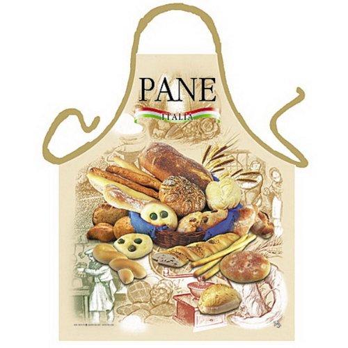 Grillschürze - Kochschürze - Italienisches Brot - Lustige Motiv Schürze als Geschenk für Grill Fans mit Humor