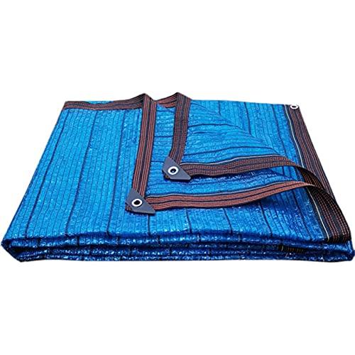 KUAIE Paño De Sombra con Ojal Durable Ventilación Lona De Sombra, para Balcones, Patios, Flores, Azul, 16 Tamaños (Color : Blue, Size : 8×10m)