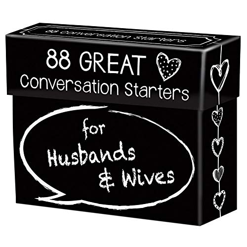 88 Great Conversation Starters for Husbands and Wives – Romantic Card Game for Married Couples –...