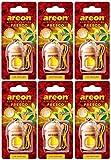 AREON Fresco Deodorante Auto Vaniglia Dolce da Appendere Specchietto Pendente Boccetta Giallo Legami 3D (Set x 6)