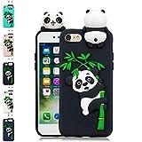 LA-Otter Coque iPhone 6S 6 Noir Panda Ultra Fine Slim Mince Silicone TPU Gel Bumper...