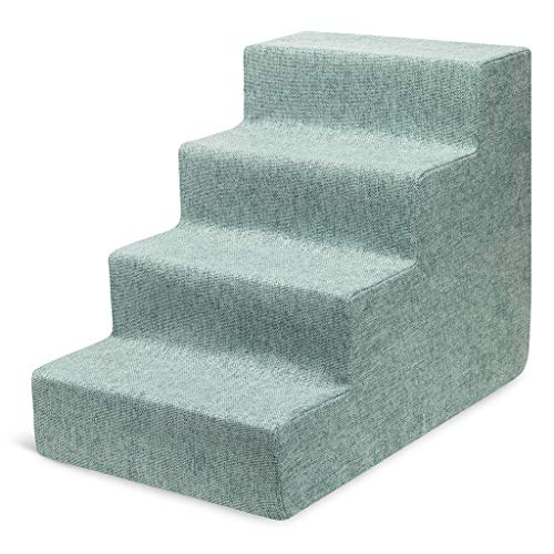 Best Pet Supplies USA Made Pet Steps and Stairs with CertiPUR-US Certified Foam for Dogs and Cats