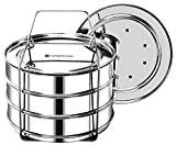 EasyShopForEveryone Stackable Insert Pans, Pressure Cooker Accessories 6qt [8qt avail] Compatible with Instant Pot 6,8 Qt, Ninja Foodi, IP 6 Quart, Pot in Pot Cooking Insta Pot, Cook 3 Dishes at once