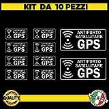 Kit de 10 pegatinas satélites transparentes antirrobo GPS para interior del coche – Pegatinas alarma GPS antirrobo...