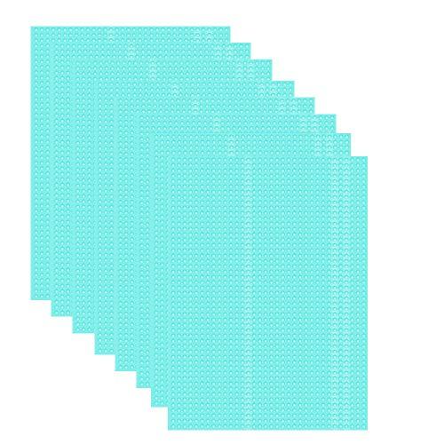 Luoistu 8 Stücke Antibakterielle Kühlschrankmatten entziehen Feuchtigkeit und Gerüch rutschfest, abwaschbar, zuschneidbar, Antifouling, Wärmedämmung, Mehrzweck Tischset(Blau 30x45CM)