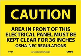 NMC C115P OSHA Sign,