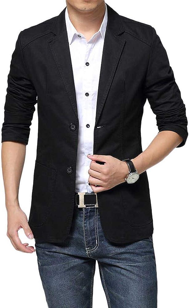 Mens Casual Beauty products Regular discount 2 Buttons Slim Fit Blazer Coatâ Jacket Autumn Sport