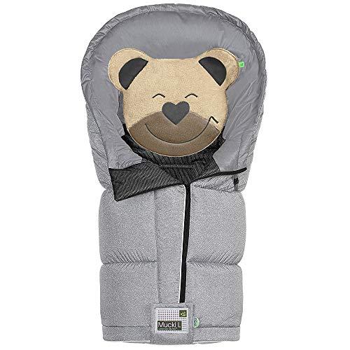 Odenwälder BabyNest Fußsack Mucki L fashion | 12284-1078 | passend für alle Kinderwagen und Buggy | new woven soft grey