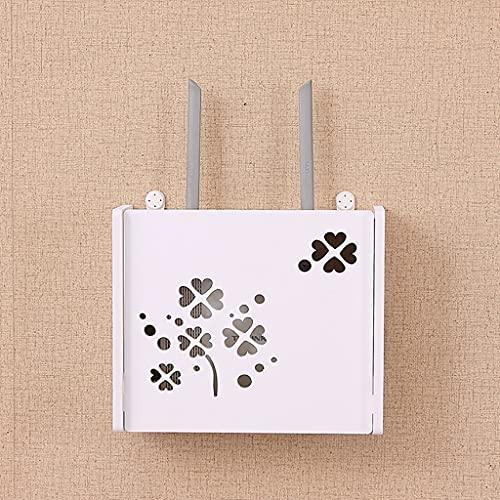 Estante del enrutador WiFi, soporte de cable de cable de caja de almacenamiento, caja de ajuste de la caja de colgaje de la caja del cable del cable de la caja del cable de la caja de acabado multifun