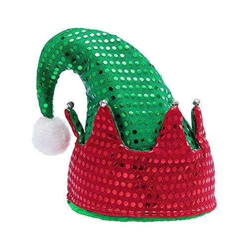 SUPVOX Sombrero de Duende Gorro de Elfo Sombrero de Navidad Disfraz de Duende Navidad Accesorio de Cabello de Navidad para Niños Adultos