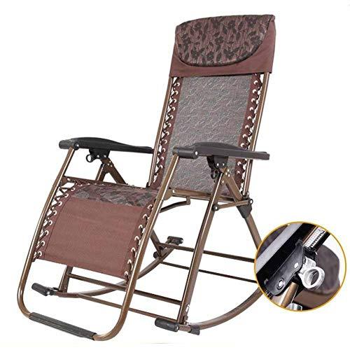 IJNBHU Silla de Trabajo de Gravedad Cero Brethable,Cama Plegable de Camping Reclinable de salón Plegable,Tumbona reclinable en un sillón de Patio,para Exteriores,PiscinaA