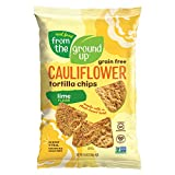REAL FOOD FROM THE GROUND UP Cauliflower Tortilla Chips - 6Count, 4.5 Oz Bags (Lime)
