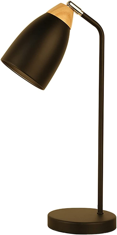 LYP-Leuchten Eisen Craft Tischlampe Led Augenschutz Schreibtischlampe Schwarz Schlafzimmer Studie Nachtlicht (E27 - Keine Glühbirne Druckschalter) für Büro, Zuhause, Studium
