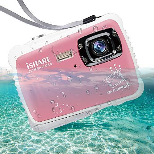 ISHARE Waterproof Camera 21MP HD Underwater Digital Camera for Kids with...
