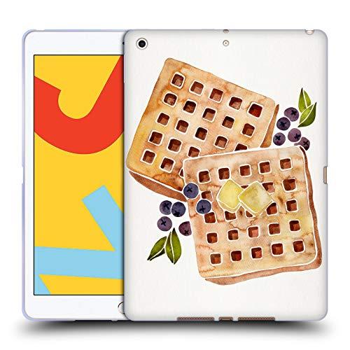 Head Case Designs Offizielle Cat Coquillette Waffles Essen Soft Gel Huelle kompatibel mit iPad 10.2 (2019)