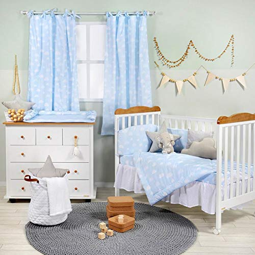 Great Features Of Blue Clouds 3PC Crib Bedding Set Crib Bedding Collection