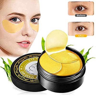 Collagen Eye Mask, Under Eye Mask, Anti Aging Eye Patch, 24K Gold Eye Masks, Collagen Eye Pads, Eye Treatment Mask, for Dark Circles, Puffy Eyes & Bags and Wrinkles, with Collagen, Hyaluronic Acid