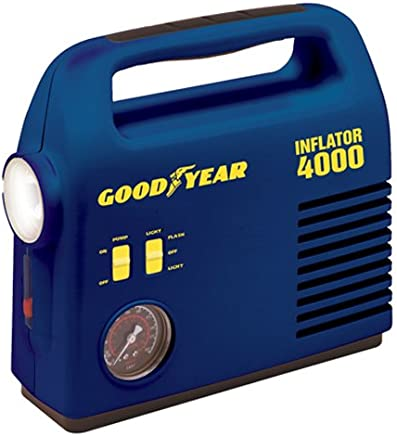 Bon-Aire Goodyear i4000 12-Volt Tire Inflator with 4-Way Emergency Light