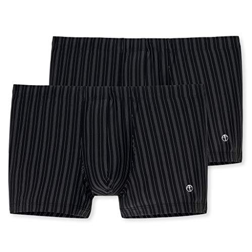 Schiesser Nachtschwärmer - Shorts - 128626-2er Spar-Pack (6 Schwarz)