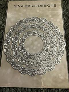 Gina Marie Metal Cutting Paper Craft Die - Frilly Lace Circle