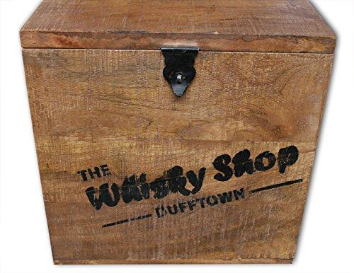 """KMH® 2tlg. Truhenset """"Whisky Shop"""" aus Mangoholz, 40x40x40,5cm und 30x30x30,5cm - 2"""