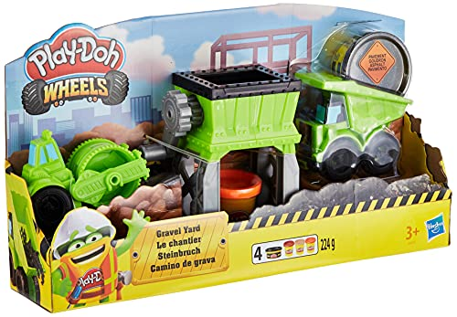 Hasbro Play-Doh-Wheels Il Cantiere, Playset con Pasta da Modellare, Multicolore, E4293EU4