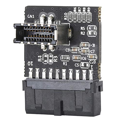 Shipenophy Adaptador de Enchufe convertidor Adaptador de extensión de Alto Rendimiento Cabecera de Placa Base portátil para pc con convertidor de cabecera de Placa Base de Chip