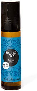 Edens Garden Fighting Five Essential Oil Synergy Blend, 100% Pure Therapeutic Grade (Pre-Diluted & Ready To Use- Cold Flu & Detox), 10 ml Roll-On