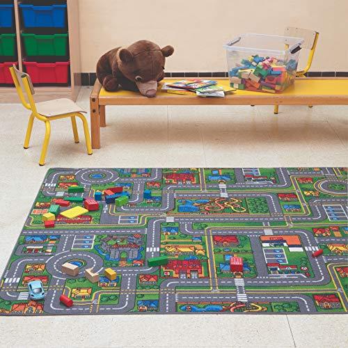 Carpet Studio Tapis Voiture Enfant 140x200cm, Tapis de Jeu pour Chambre Enfant pour Garçon et Fille, Tapis Antidérapant, 30°C Lavable - Playcity