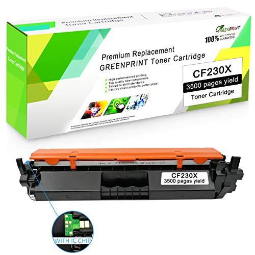 Negro Compatible 30X CF230X (30A CF230A Tóner Cartucho con Chip GREENPRINT 3,500 Páginas para HP Laserjet Pro M203d M203dn M203dw, MFP M227fdn M227fdw M227sdn M227d Impresora