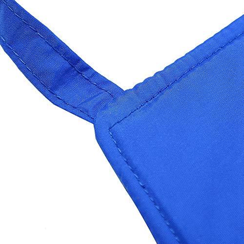 Delantal criogénico, Crio-delantal impermeable aislante, Ligero azul ajustable para sala de refrigeración aeroespacial industrial(90CM long)