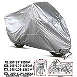 ANFTOP Funda para Moto XXXXL 210D Impermeable Protectora UV los Agujeros Cubierta de Motocicleta Scooter 4XL