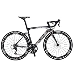 TORAY T800 Carbon Fiber Frame, Fork and Seat post - It's a lightweight and stiff carbon road bike at 9.8kg (21.6lb), also designed to offer a bit more compliance. SHIMANO Speed Control - SHIMANO SORA 2*9 Speeds with Shifter lever, Front derailleur, R...