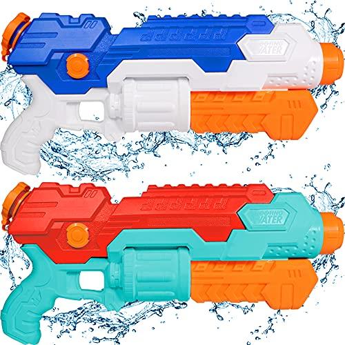 AOLUXLM Wasserpistole Groß, Spielzeug für Draußen Wasserpistole XXL 850ML mit großer Reichweite 10-12M für Erwachsene Kinder Hundeerziehung Hochdruck für Pool Garten Outdoor Stand Spritzpistolen