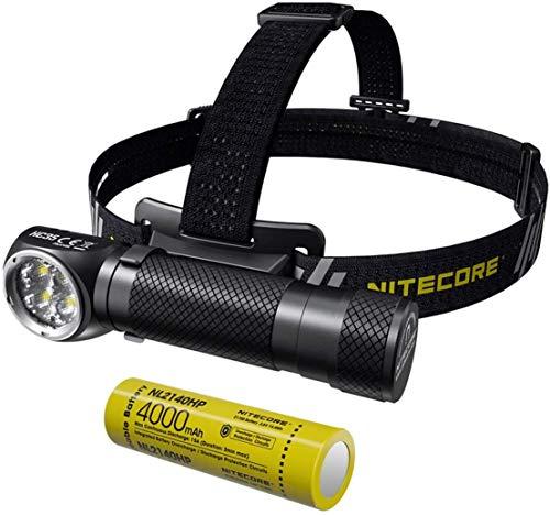 Nitecore HC35 - Linterna Frontal USB Recargable - LED Alta Potencia 2700 Lúmenes con 8 Modos de Luz - Linterna Cabeza Impermeable IP68 ([ 21700 Batería Recargable Incluida ])