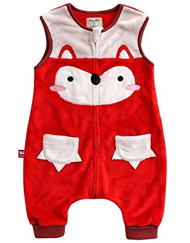 Vaenait baby 1-7Y Cozy Warm Fleece Kids Girls Wearable Blanket Sleeper MIU Fox S