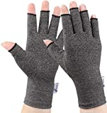 2 Pairs Arthritis Gloves,Arthritis Compression Gloves for Women Men, Fingerless Gloves Support and Warmth for Hands, Finger Joint, Relieve Pain from Rheumatoid, Osteoarthritis, RSI