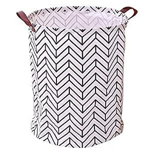 VERAVANT Large Storage Basket, Waterproof Laundry Hamper, Laundry Basket, Collapsible Dirty Clothes Basket, Toy Bin, Baby Hamper