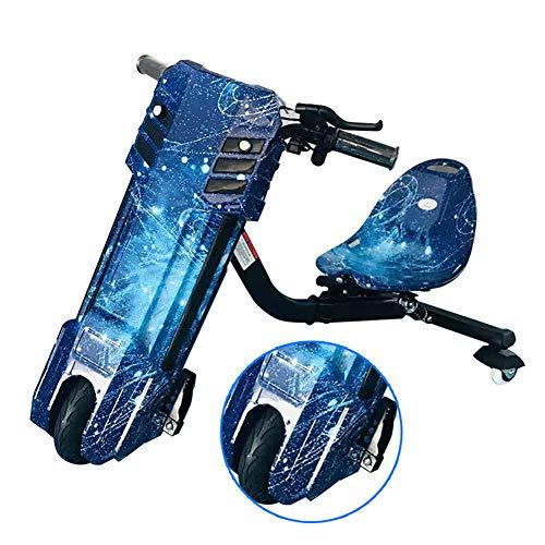 Elektro Motor Dreirad Elektrisches Dreirad Für Kinder Drift Trike 360 Dreirädrige Kraft Reiter ABS-Material, Sicher, Umweltfreundlich Und Langlebig Kinder Jungen Und Mädchen,Blau