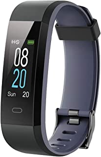 icefox 健身追踪器智能手表,防水 IP67 蓝牙活动追踪器,心率监测器和计步器