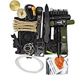 Survival Kit Emergency Gear 36 in 1 Bug Out EDC Tactical Protect Equipment Set Compact Preloaded Wilderness Multitool Outdoor Fishing Camping Hiking Supplies Waterproof Box Gift for Men Fathers Day