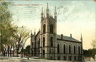 First Baptist Church Plainfield, New Jersey Original Vintage Postcard