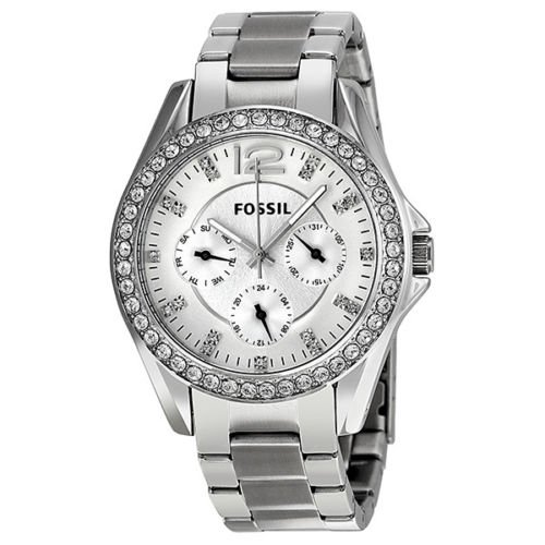Fossil Fossil Riley Multi-Funktions Silber Zifferblatt Damen Watch ES3202
