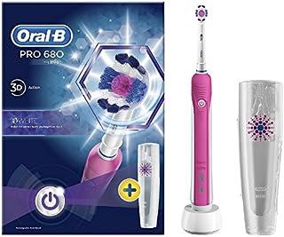 Oral-B Pro 680 - Cepillo de dientes eléctrico 3D recargable con funda de viaje
