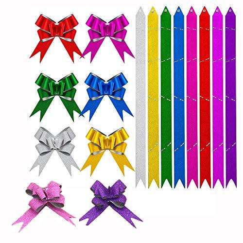 H-O 70 unidades de cinta decorativa de Navidad con diseño de mariposas de colores, ideal para Navidad, bodas, fiestas, San Valentín, decoración y cumpleaños