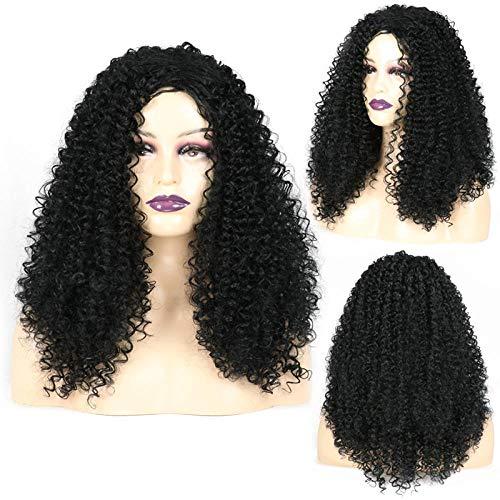 Dame perruque, fibre chimique, fil à haute température, perruque africaine de petit volume, perruque de cheveux longs