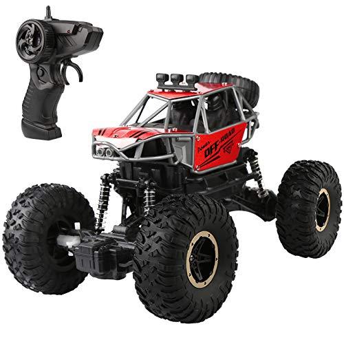 Ferngesteuertes Auto: 1:16 Maßstab RC Auto Funkfernsteuerung Elektro Geländewagen, 2.4 GHz Alles Gelände Buggy Auto Monstertruck Rock Crawler Spielzeug für Kinder Erwachsene