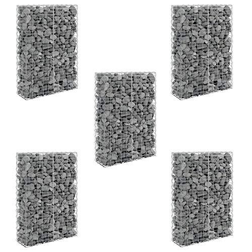 [pro.tec] Steenkorf - Schanskorven - 5 stuks set - 150x100x30cm