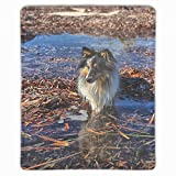Mouse pad, Personalized Unique Design Oblong Shaped Mouse Pad Shetland Sheep Dog